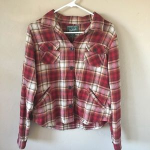 Woolrich Flannel Design Button Long Sleeve Shirt M